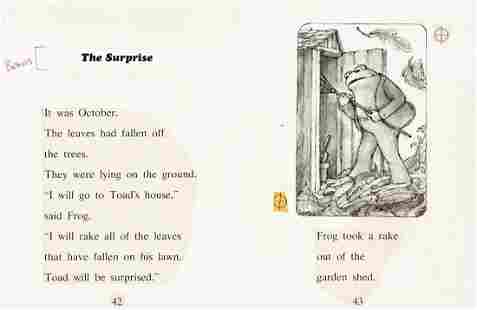 """ARNOLD LOBEL (1933-1987) """"Frog took a rake out of the"""