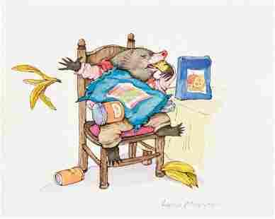 """LYNN MUNSINGER (1951- ) """"He tossed the banana peel over"""