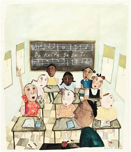 """GISELLE POTTER (20th century) """"First thing in class,"""