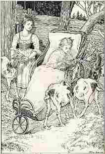 "LOUIS RHEAD (1857-1926) ""Clara on her couch was soon"