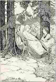 """LOUIS RHEAD (1857-1926) """"So they sat and chatted under"""