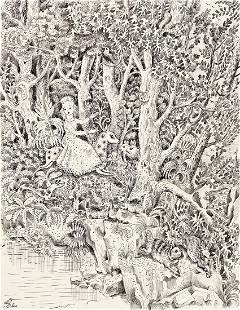 ILYA SCHOR (1904-1961) Woodland Scene. [CHILDRENS /
