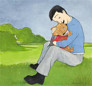 """ANDREA U'REN (1968- ) """"You're my Pugdog. You're perfect"""