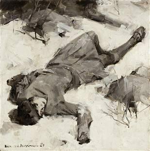 HAROLD ANDERSON (1894-1973) Snow Angel.