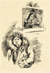 """PEGGY BACON (1895-1987) """"Particularly afraid of each"""