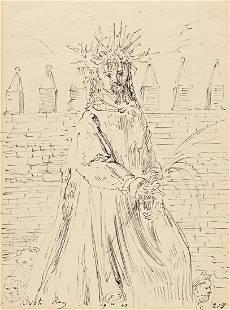 "EUGENE BERMAN (1899-1972) ""Christo Rey."" [THEATER]"
