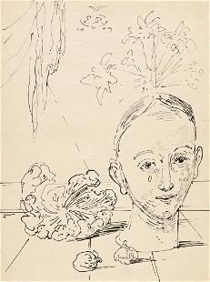 EUGENE BERMAN (1899-1972) Surrealist head of woman with