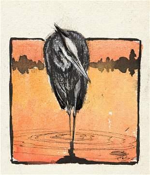 PAUL BRANSOM (1885-1979) Water Birds.