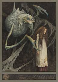 """BRIAN FROUD (1947- ) """"One day I saw a large bunch of"""