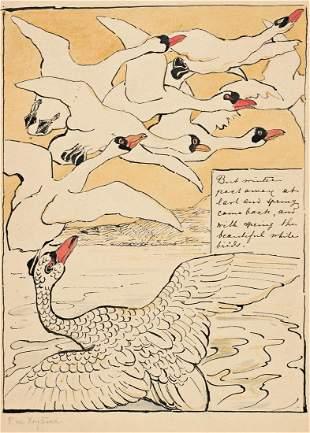 """THEODOOR VAN HOYTEMA (1863-1917) """"But winter past"""
