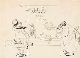 "JAMES A. SHEPHERD (1866-1946) ""Fables: Blackbirds and"