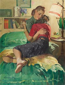"HADDON SUNDBLOM (1899-1976) ""All a Girl Needs."" [LADIES"