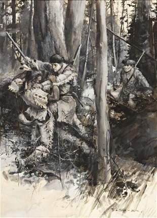 """FREDERICK COFFAY YOHN (1875-1933) """"With a spring,"""