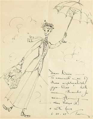 TONY WALTON (1934- ) Mary Poppins. [COSTUME / FILM /