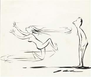 """JACK COLE (1914-1958) """"Indecisive."""" [CARTOONS /"""