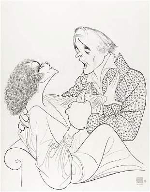 AL HIRSCHFELD (1903-2003) Elizabeth Taylor and Richard