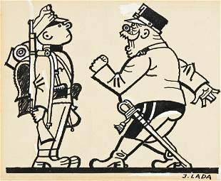 "JOSEF LADA (1887-1957) ""Colonel Schroeder"""