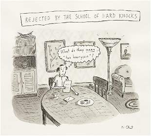 """ROZ CHAST (1954- ) """"Rejected by the School of"""