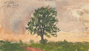 OSCAR BLUEMNER Two watercolors.