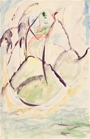 ABRAHAM WALKOWITZ Abstract Mountain Landscape.