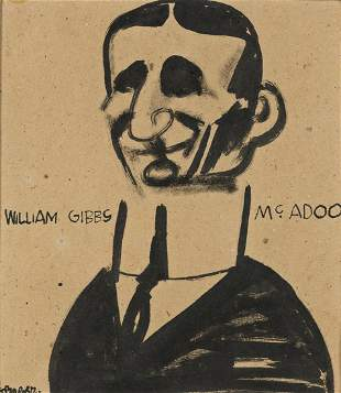 WILLIAM GROPPER Group of 7 ink drawings of the