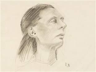 EUGENE HENRY BISCHOFF Portrait Study.