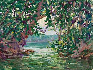 HARRY LESLIE HOFFMAN Mouth of the Jungle Stream,
