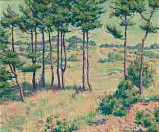 CHARLES MACLELLAN Western Landscape with Trees.