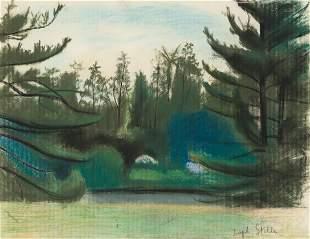 JOSEPH STELLA Landscape with Trees.