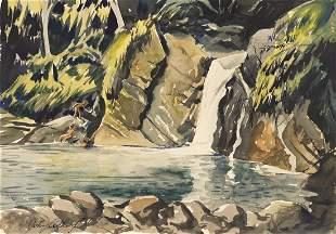 JOHN WHORF Two watercolors.