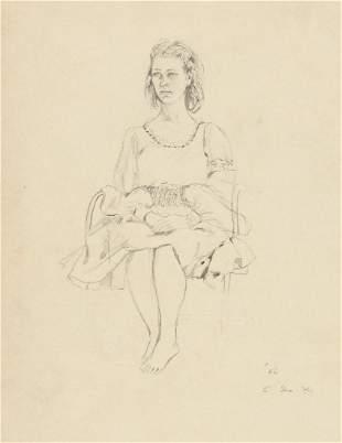 ELAINE DE KOONING Portrait of a Seated Woman.