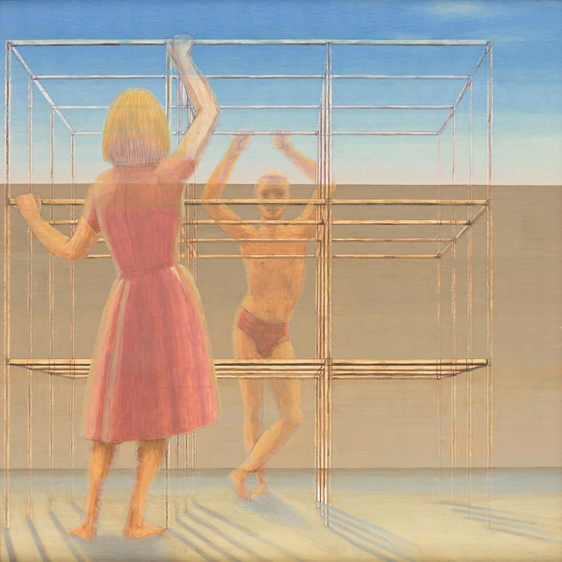 GEORGE TOOKER Untitled (Young Man Facing a Woman).