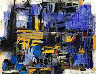 VACLAV VYTLACIL Abstract Composition (Violet, Yellow