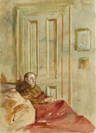 AARON SHIKLER Seated Man in an Interior.