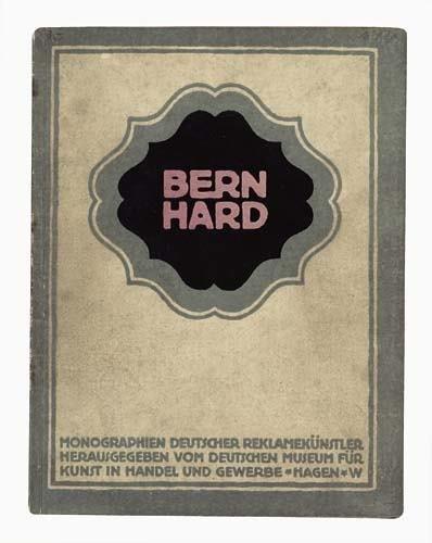 2039002: Poster. LUCIAN BERNHARD (1883-1972) Two books.