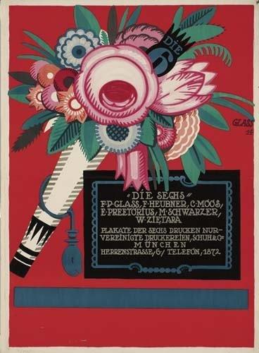 """2039003: Poster. FRANZ PAUL GLASS (1886-1967) """"DIE SECH"""