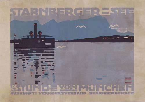 2039004: Poster. LUDWIG HOHLWEIN.(1874-1949) STARNBERGE