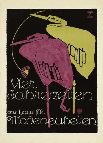2039005: Poster. LUDWIG HOHLWEIN (1874-1949) VIER JAHRE