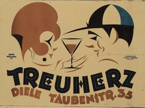 2039009: Poster. REINHARDT HOFFMULLER (1894-1975) TREUH