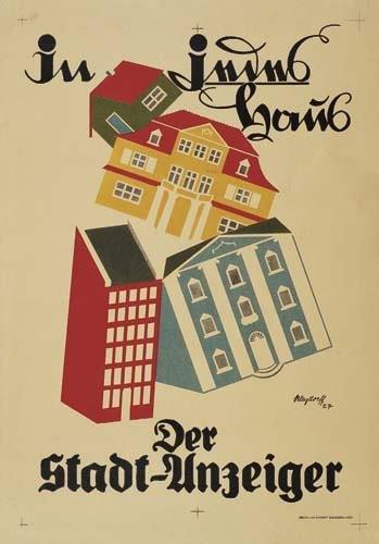 2039010: Poster. EBERHARD VON KLEYDORFF (1900 - ?) IN J