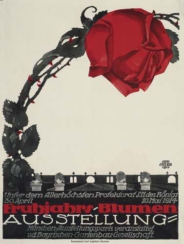 2039012: Poster. OTTO OTTLER (1891-1965) FRUHJAHRS-BLUM
