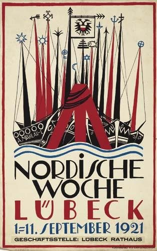 2039013: Poster. ALFRED MAHLAU (1894-1967) NORDISCHE WO