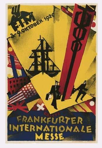 2039014: Poster. ALBERT FUSS (1889-1969) DRITTE FRANKFU