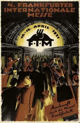 2039015: Poster. FKD 4. FRANKFURTER INTERNATIONALE MESS