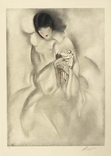 2039021: Poster. CHARLES LOUPOT [WOMAN HOLDING A PIERRO