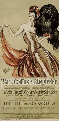 2039024: Poster. JEAN GABRIEL DOMERGUE (1889-1962) BAL