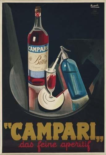 2039119: Poster. MARCELLO NIZZOLI (1887-1969) CAMPARI.