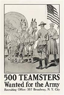 CHARLES FREDERICK PETERS (1882-1948). 500 TEAMSTERS