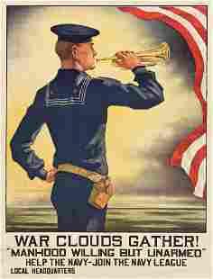 HAZEL ROBERTS (1883-1966). WAR CLOUDS GATHER! /