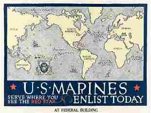 DESIGNER UNKNOWN. U.S. MARINES / SERVE WHERE YOU SEE